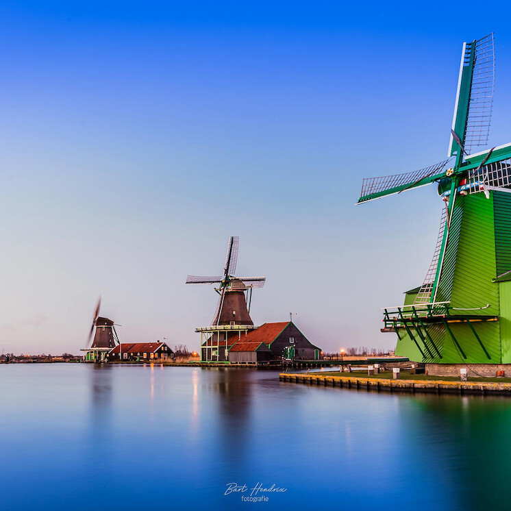 Foto Green in Blue van Bart Hendrix